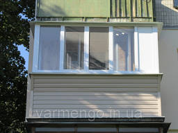 Балкон под ключ. Ремонт балконов. Французский балкон.