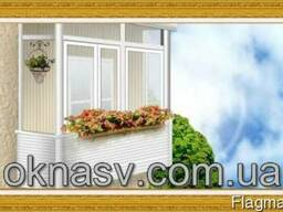Балкон ремонт под ключ. Окна для балкона Steko или WDS.
