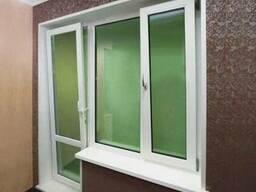 Балконный блок, металлоплатиковые двери, балконные двери