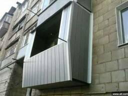 Балконы под ключ: металлокаркас, расширение, остекление, нар