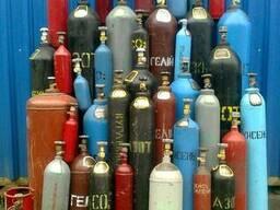 Баллоны кислородные, углекислотные, аргоновые, азотные.