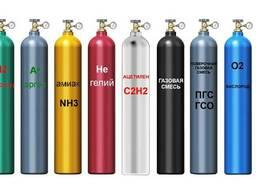 Баллоны кислородные , углекислотные и тд.