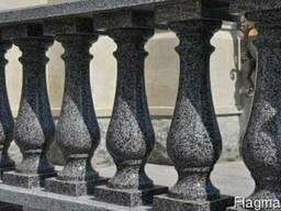 Балясины гранитные из серого Покостовского гранита-цена - фото 1