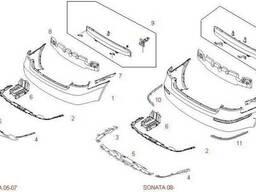 Бампер задний Hyundai Sonata