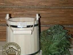 Банное ведро из липы. Ведро деревянное. Ведро в баню из липы