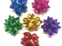 Бант для декора подарков М(маленький) Металлизированный