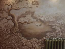 Барельєф, горельєф, художній розпис, рельєфне панно, картини