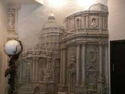 Барельеф, скульптура, лепнина, орнамент, художественная росп
