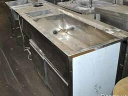 Барная станция холодильная с мойкой б/у