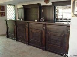 Барные стойки, мебель для кафе, баров, ресторанов из массива