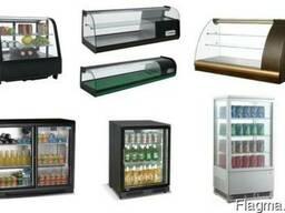 Барные витрины. Кондитерские холодильные. Настольные шкафы.