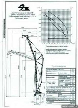 Башенный кран монтажный СКР 2200ЭМ, декабрь 1986г.в.