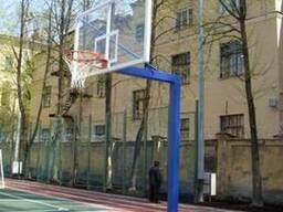 Баскетбольная стойка на одной опоре под щит 1200х900мм