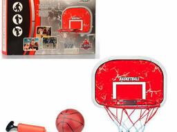 Баскетбольное кольцо на щите с мячом, насосом (MR 0331)