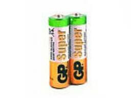 Батарейка GP Super 15A-S2, щелочная AA, 2 шт в вакуумной упаковке, цена за упаковку
