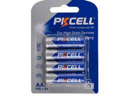 Батарейка литиевая Pkcell LiFe 1.5V AA/FR6, 4 шт в блистере (упак.48 штук) цена за. ..