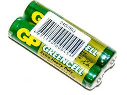 Батарейка солевая GP Greencell 24G-S2, AAA, 2 шт в вакуумной упаковке, цена за упаковку