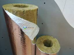 Ізоляція базальтова для труб 50(50) фольгована до 650 град.