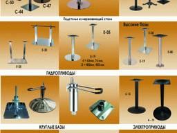 Базы для стола, опоры столов металлические, подстолья