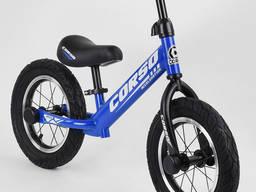 """Беговел Corso 55408, 12"""" синий, Детские велосипеды"""