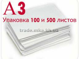 Белая крафт бумага А3