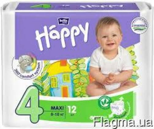 """Bella Happy Підгузки Maxi """"4"""" 12 szt."""