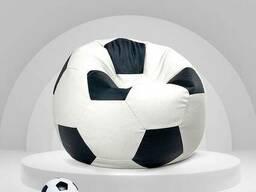 Біло чорний крісло мішок футбольний м'яч з тканини оксфорд