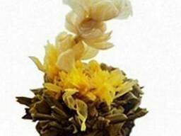 Белый китайский вязаный чай Косточка Сливы, 50гр