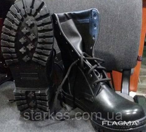 Берци кожаные деми черного цвета с подошвой НАТО, 46 р и др.