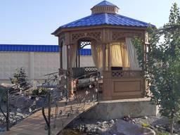 Беседка садовая из ясеня. Строительство под ключ - фото 7