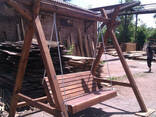 Беседки, Качели деревянные, столы , лавочки. пиломатериалы - фото 1