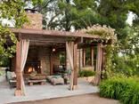 Беседки , навесы, перголы, деревянные столы, изделия под заказ - фото 3