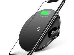 Беспроводная зарядка QI Baseus with Digital LED Display. ..