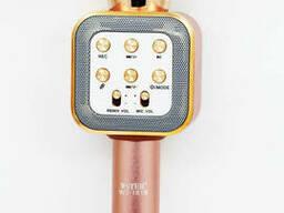Беспроводной караоке микрофон WS1818 с чехлом - Розовый