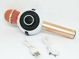 Беспроводной микрофон караоке bluetooth Wster WS-878 белый