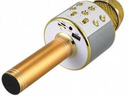 Беспроводной микрофон-караоке портативная колонка WS-858 Karaoke Gold Bluetooth