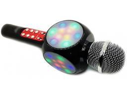 Беспроводной микрофон WSTER WS-1816 Bluetooth LED SD-карта