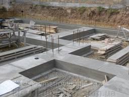 Бетонирование монтаж блоков ФБС монтаж опалубки гидроизоляц