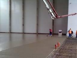 Бетонні роботи. Промислова підлога. Бетонування майданчиків під ключ
