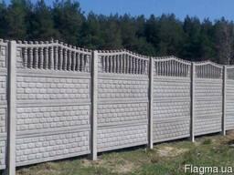 Бетонный забор цветной, гранилит