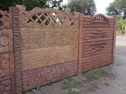 Бетонный забор цветной,гранилит