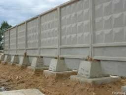 Бетонный забор П-6-Ва плиты заборные установка доставка