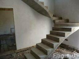 Бетонные лестницы, любой формы и сложности на заказ