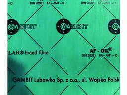 Безасбестовый паронит листовой Gambit OIL 1мм 50х50см