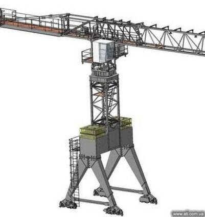 Безоголовочный башенный кран-погрузчик КБ-586П