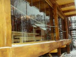 Безрамное раздвижное остекление для балконов и веранд в Киев