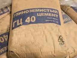 Глиноземистый цемент ГЦ-40, цемент ГЦ-40 купить, цена, гост,