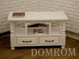 """Журнальный столик из дерева """"Прованс"""" белый"""
