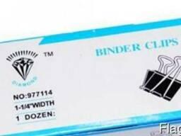 Биндер зажим для бумаги черный 32мм