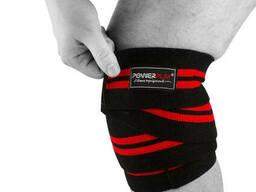 Бинти для колін 2509 Чорно-Червоні SKL24-143652